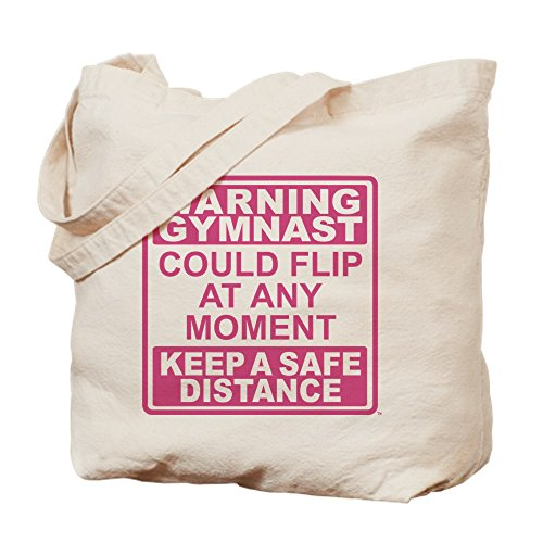 CafePress alerta–gimnasta con tapa–gamuza de bolsa de lona bolsa, bolsa de la compra Small caqui