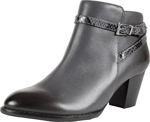 Boot Shaft Platform - VIONIC Women's Upright Upton Ankle Boot Dark Grey Boot