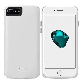 iPhone 7 Plus Funda Cargador de batería, Wuloo funda Cargador Batería Cargador de Copia de seguridad recargable carcasa con batería externa de 7500 ...
