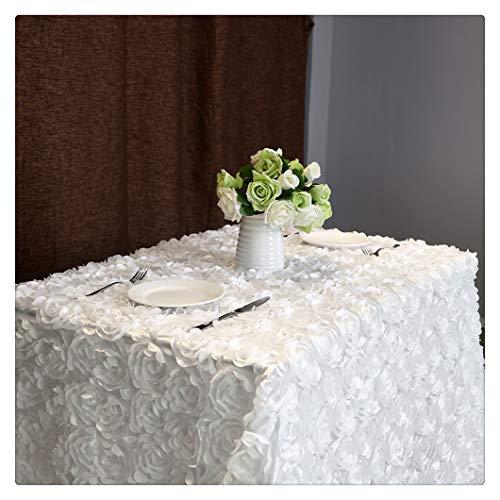 QueenDream Rosette Tablecloth White 50