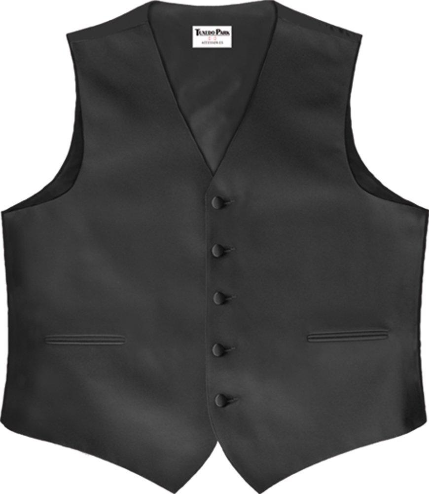 Color Satin Vest with Back Black XXXX-Large