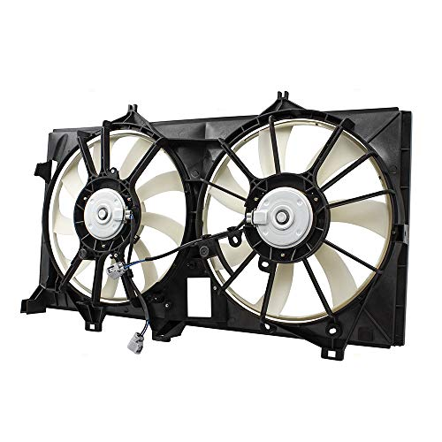 2016 Toyota Camry Hybrid - BROCK Dual Engine Cooling Radiator Condenser Fan Motor Assembly for Toyota Camry Avalon Hybrid 163630V370 163630A150 TO3115173