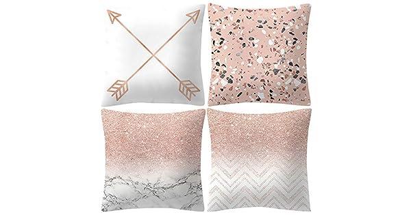 4 fundas de cojín decorativas para el hogar, de lino y ...