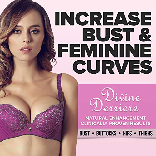 Divine Derriere Breast Enlargement Cream - Natural Breast Enhancement Cream For Bust and Butt, Naturally Fuller, Firming, Lifting and Plumping with Handbook ($49 Value)
