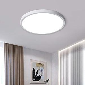 Jaycomey Modern 38W LED Ceiling Light, 15.7 Inch Super Bright LED Flush Mount Ceiling Light Fixture,6500K/Cool White Ceiling Lamp for Bedroom Living Dining Room Kitchen