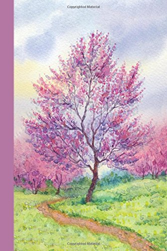 Journal: Pink Tree 6x9 - DOT JOURNAL - Journal with dotted pages (Watercolor Dot Journal Series)