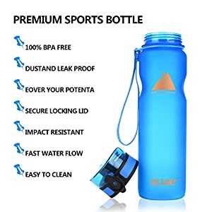 Victanz Sports Water Bottle 32oz/1000ml - Best Drinking Bottles with Cup Brush Easy to Clean, Flip Top Opens with 1-Click, Eco Friendly Tritan Copolyester, BPA Free