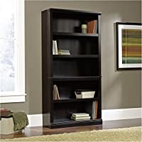 Bowery Hill 5 Shelf Bookcase in Estate Black