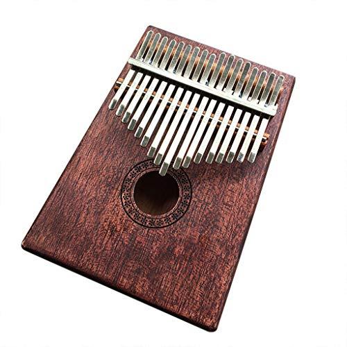 vmree 17 Keys Kalimba, International Standard C Tune Thumb Piano Portable Travel Moving Music Box Africa National Instrument Mbira Sanza Mahogany Body Ore Metal Tines - Ideal Gift (E)