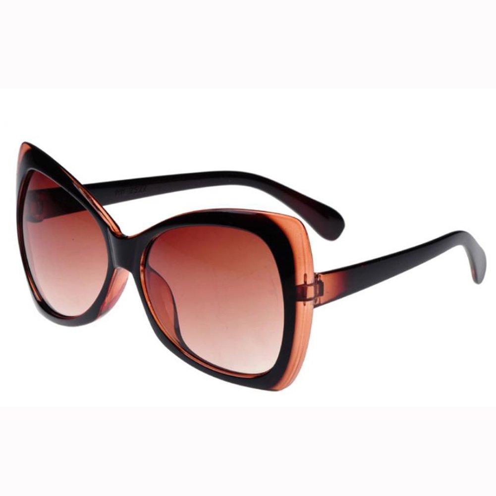 Qingsun Moda Mariposa Gafas de Sol Fashion Sunglasses Protección de Ojos para Mujer Marrón