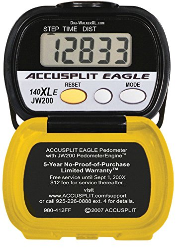 Digiwalker Pedometer (Accusplit AE140XLE Pedometer, Yellow/Black)