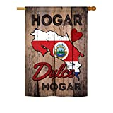 Country Costa Rica Hogar Dulce Hogar – Flags of the World Nationality Decoration – 28″ x 40″ Impressions House Flag by Ornament Collection – US made