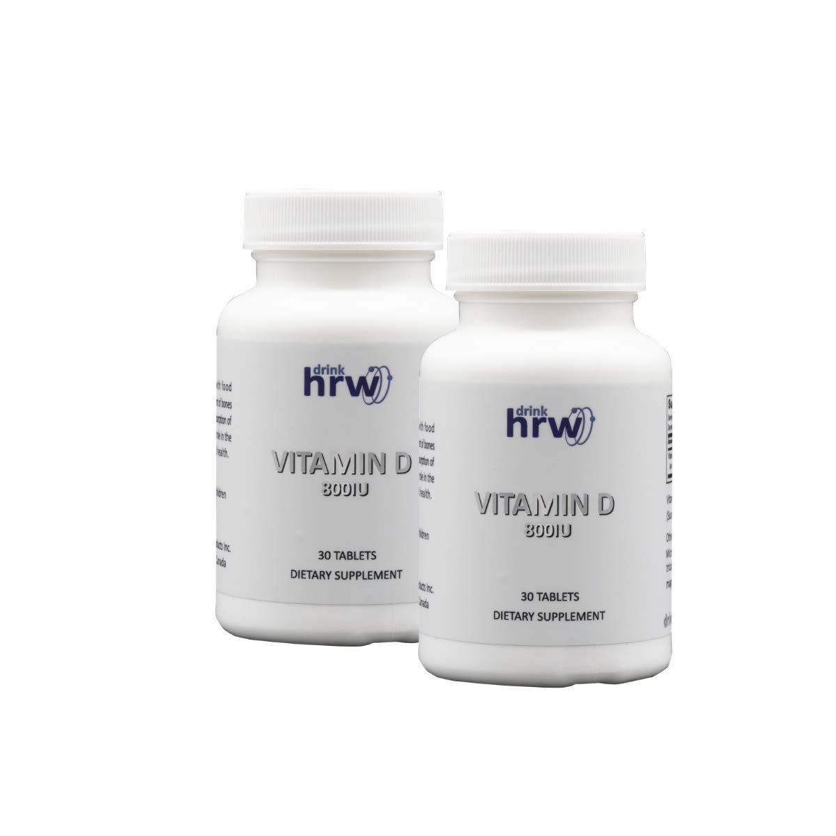 Drink HRW 800IU Vitamin D Supplement, 2 Bottles, 60 Tablets
