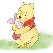 11  Piglet Hugs Winnie the Pooh Bear Disney Removable Peel Self Stick Adhesive Vinyl Decorative Wall Decal Sticker Art Kids Room Home Decor Girl Boy Children Bedroom Nursery Baby 11 x 8 Inch