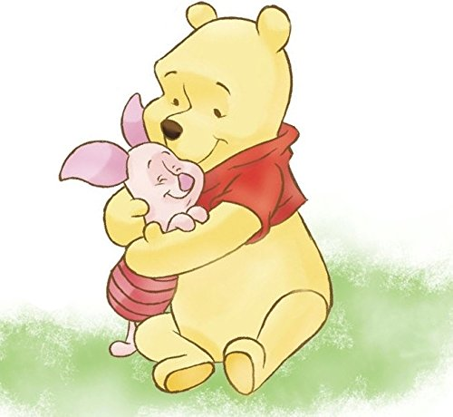 11 Inch Piglet Hugs Winnie The Pooh Bear Disney Removable Peel Self Stick Adhesive Vinyl Decorative Wall Decal Sticker Art Kids Room Home Decor Girl Boy Children Bedroom Nursery Baby ()