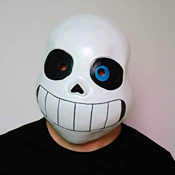 Cosplay Legend Undertale Sans Costume Latex Mask Funny Halloween Party Headgear