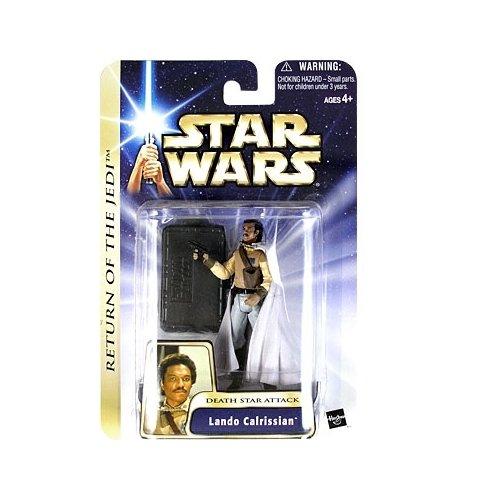Star Wars The Saga Collection Rotj Lando Calrissian Death Star Attack Action Figure  21 Hasbro 2003