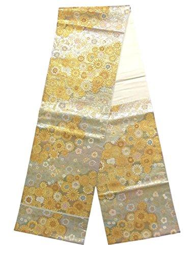 憂慮すべきかなりの襲撃リサイクル 袋帯 万寿五彩 正絹 六通