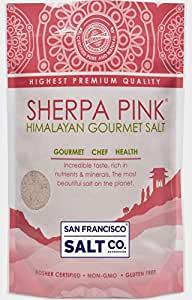 Sherpa Pink Gourmet Himalayan Salt, 1lb Extra-Fine Grain. Incredible Taste. Rich in Nutrients and Minerals To Improve Your Health. Add To Your Cart Today.