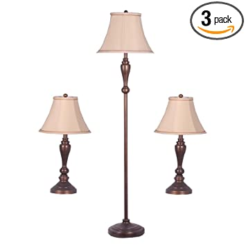 Adesso 1587 26 Classic Lamp Set Containing Matching Floor Lamp and Two Table  Lamps. Adesso 1587 26 Classic Lamp Set Containing Matching Floor Lamp and