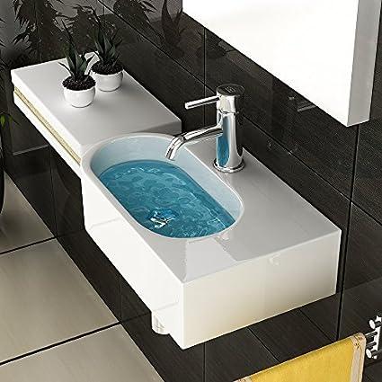 Cerámica mano lavabo/cuarto de baño/Diseño tocadores/invitados WC ...