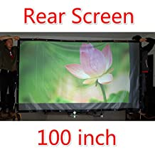 100 Inches 16:9 4:3 projector screen Rear Projection Screen Behind Film High Quality Bright for Any 3D HD LED Android Projector