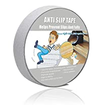 """Anti Slip Tape Clear ,Safety Track Tape Skid Tape Roll High Traction Strong Grip Abrasive Residue Free Adhesive (1"""" width x 190"""" long,Clear)"""