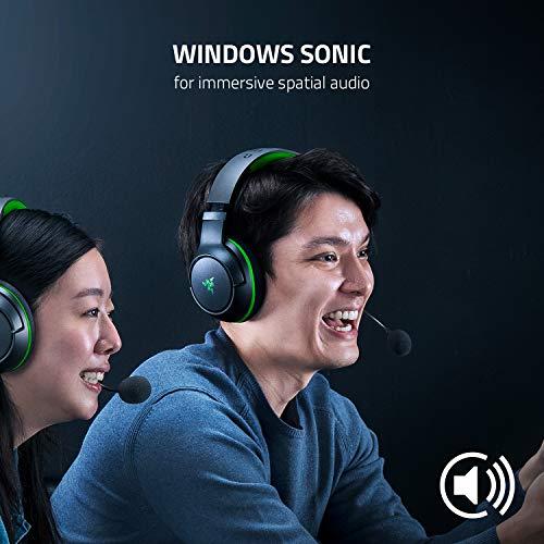 Razer Kaira Wireless Gaming Headset for Xbox Series X   S: TriForce Titanium 50mm Drivers - Cardioid Mic - Breathable Memory Foam Ear Cushions - EQ and Xbox Pairing Button - Windows Sonic - Black