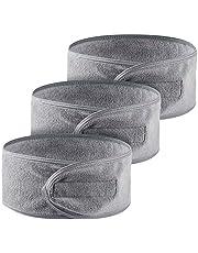Queta haarband voor make-up, cosmetische hoofdband badstof, verstelbare haarbeschermingsband met klittenband 3 pack