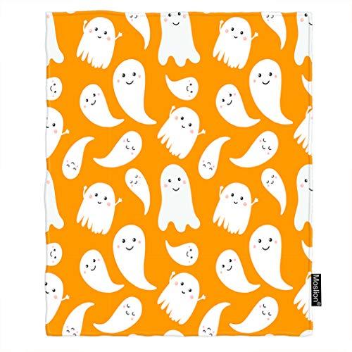 Moslion Halloween Blanket Cute Little White Creepy Ghost