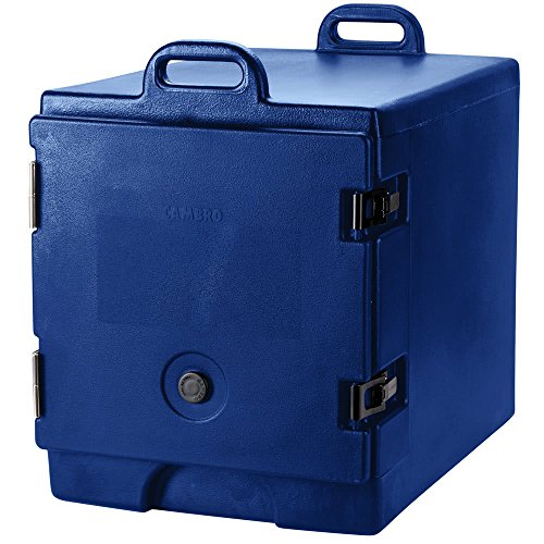TableTop king 300MPC186 Navy Blue Camcarrier Pan Carrier with Handles - Front Load for 12