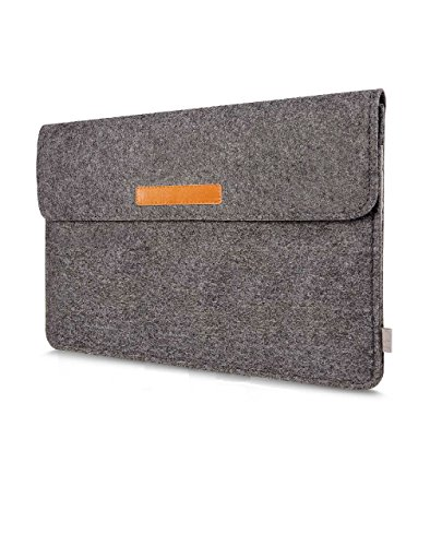 Storite 15.6-Inch Felt Laptop Sleeve Designed for 15-inches Laptops/Fits 15-inches MacBook Pro Retina/MacBook Air/Most 11-inches Ultrabooks and MacBooks - Gray
