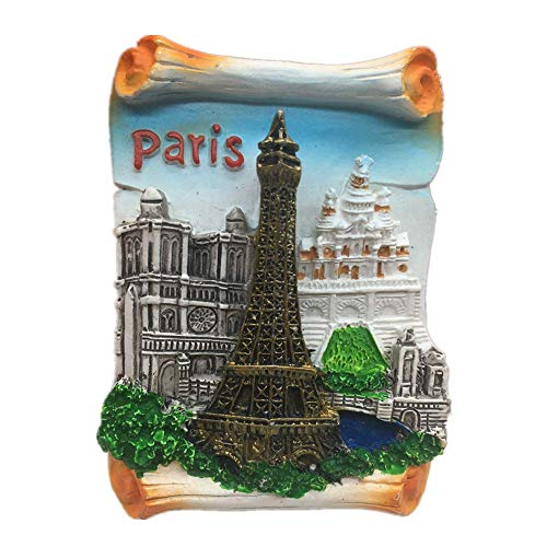 (Refrigerator Magnets Resin 3D Funny Eiffel Tower Paris France City Tourist Souvenirs Fridge Stickers Magnetic Fridge Magnet for Whiteboard Home Kitchen Decoration Accessories Arts Crafts Gifts)