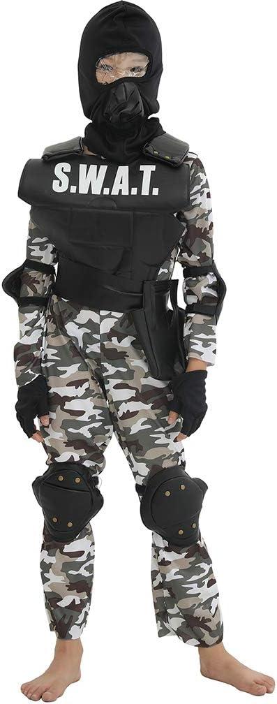 Encoco - Disfraz de policía para niños, disfraz de soldado ...