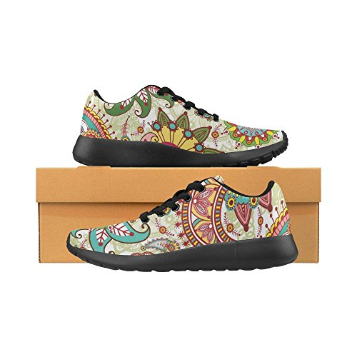 15 Lightweight Sneakers Casual On Flowers Size Running Graphic US and Print Women's Paisley 6 Athletic Shoes InterestPrint wgaqFHU