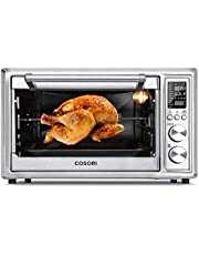 COSORI 12-in-1 Air Fryer Toaster Oven Combo, 6-slice/ 30 Liters Convection Oven Countertop with Rotisserie & Dehydrator for Chicken, Pizza, Cookies, 6 Accessories & 100 Recipes Included