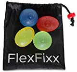 FlexFixx HAND EXERCISER Therapy Set - Best For Arthritis, Carpal Tunnel, Stroke Rehab, Stress Relief - 4 Squeeze Balls for Grip, Wrist, Finger, Hand Strength - User Guide with Strengthening Exercises