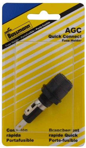 Bussmann (BP/HKP-HH-RP) 15 Amp Carded Panel Mount Fuse Holder for 5/16