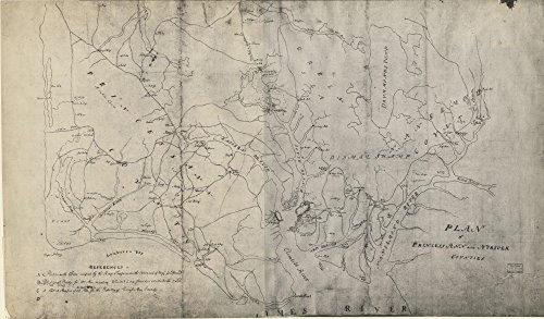 Map: 1780 Plan of Princess Ann and Norfolk counties|Cadastral Early Landowners|Princess Anne County|Princess Anne County|Real Property|Virginia|Virginia Beach|Virginia Beach|Virginia Beach - Best Locator Shop One