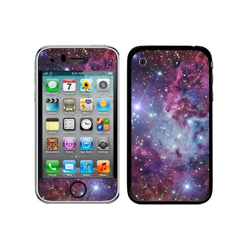 Graphics and More Protective Skin Sticker Case for iPhone 3G 3GS - Non-Retail Packaging - Fox Fur Nebula - Galaxy Space (Iphone 3g Decal)