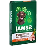 Iams ProActive Health Sensitive Skin & Stomach Grain Free Dog Food – with Real Chicken and Peas, 19 Pound Bag