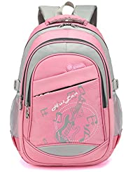 Music Print Girls School Backpack for Kids Boys Elementary School Bags Bookbags