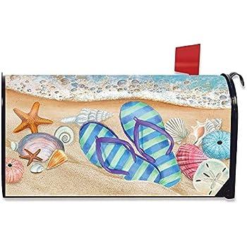 Briarwood Lane Coastal Wreath Summer Magnetic Mailbox Cover Nautical Standard
