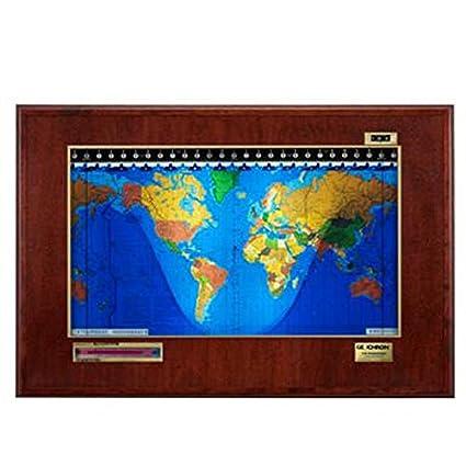Amazon.com: Geochron Boardroom Luxury World Clock With Lithograph ...