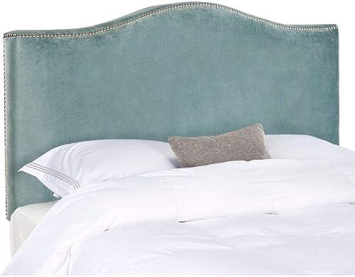 Safavieh Jeneve Wedgwood Blue Velvet Upholstered Headboard