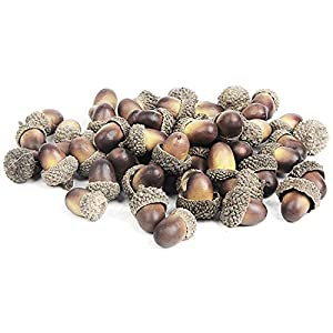 YHMALL 100pcs Artificial Lifelike Simulation Small Acorn Set Decoration Fake Model Craft Material Home House Kitchen Decor 40
