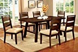 Furniture of America Zaria 7-Piece Industrial Dining Set For Sale