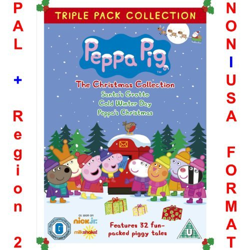 Grotto Collection (Peppa Pig Triple Pack Christmas Collection [NON-U.S.A. FORMAT: PAL + REGION 2 + U.K. IMPORT] (Includes: Santa's Grotto + Cold Winter Day + Peppa's Christmas) by Peppa Pig)