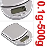 NoyoKere 500g/0.1g Mini Digital Pocket Scale Jewelers kitchen scales household scales accurate scales letter scale