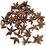 Hand Picked, Dried, Natural Botanical Anise Stars with Few Stems, Good Color, Pleasant Aroma- 16 Oz.